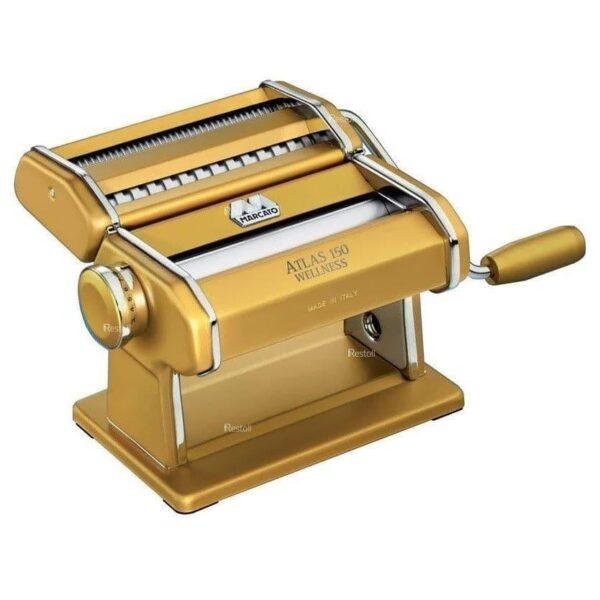 Лапшерезка-тестораскатка ручная Marcato Atlas 150 золото MAR020406