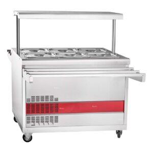Прилавок холодильный ABAT «Передвижная» ПВВ(Н)-70ПМ-НШ