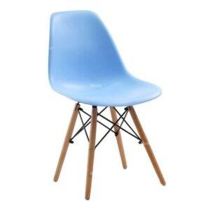 Стул Eames Wood голубой
