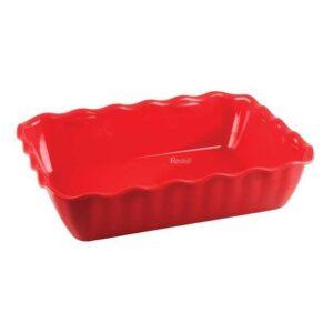 Салатник с волнистыми краями Restola 2 л (260х175х80), красный - 9 шт/уп