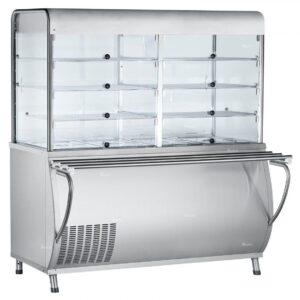 Прилавок-витрина холодильный ABAT «Патша» ПВВ(Н)-70М-С-НШ