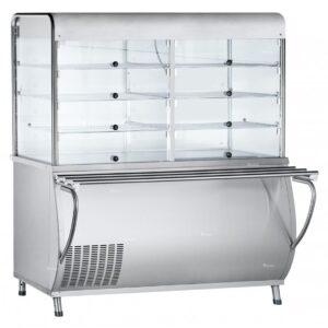 Прилавок-витрина холодильный ABAT «Патша» ПВВ(Н)-70М-С-ОК