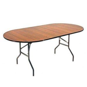Стол банкетный складной овальный Resto 180х90cм