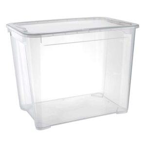 Ящик универсальный Restola 70 л с крышкой, 555х390х435, прозрачный - 5 шт/уп