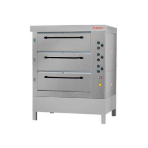 Хлебопекарная печь Восход ХПЭ-750/3 нерж в обрешетке